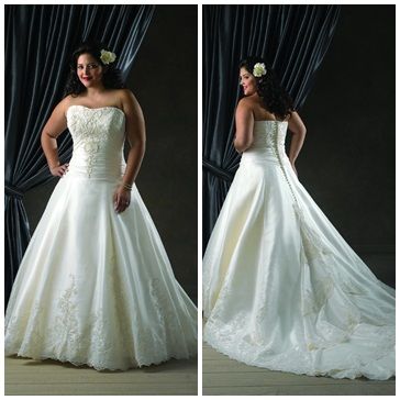 1108 Bonny plus size wedding dress