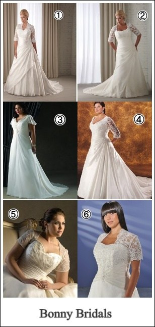 wedding dresses with sleeves by bonny bridals