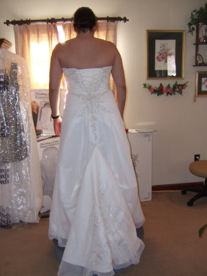 American bustle pictures and useful tips for Wedding dress train bustle