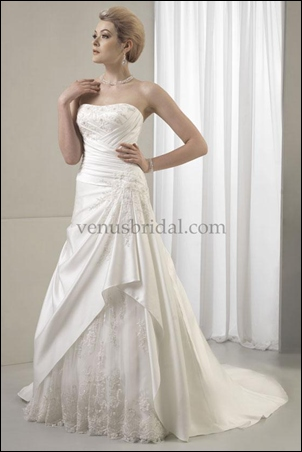apple body shape wedding dress