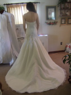 bustle a wedding dress