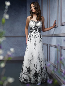 black and white wedding dress Mia Solano