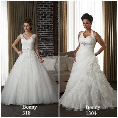 bonny bridal gowns 318 and 1304