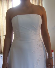 bridal alterations strapless wedding dress