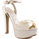 ivory bridal platform shoes