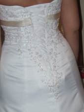 corset wedding dresses, modesty panel