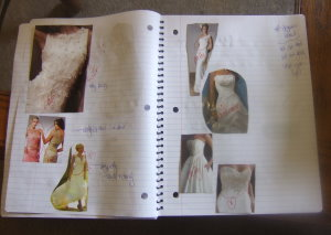 design wedding dress collage page