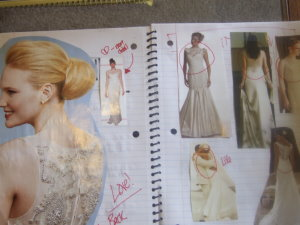 design wedding dress collage