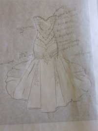 draw a wedding dress, design wedding dress