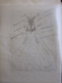 design wedding dress, draw wedding dress