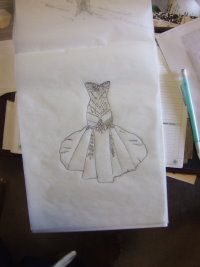 design a wedding dress, draw a wedding gown