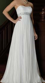 empire waist wedding dress picture example