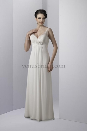 empire waist wedding dress for apple shape