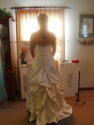 pick up wedding dress french bustle