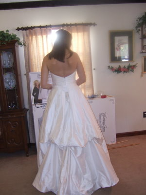 french style wedding dress bustle