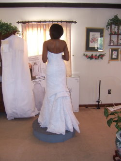 french bustle wedding dress style