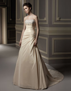 gold wedding dress Anjolique