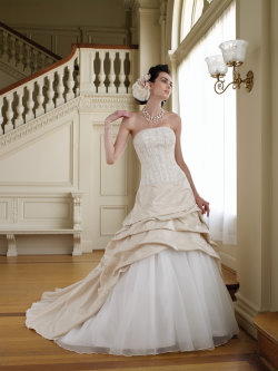 gold wedding dresses Mon Cheri