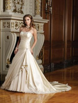 gold wedding dress sophia tolli