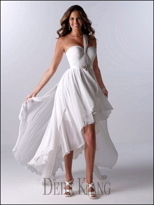 hi low hem wedding gown