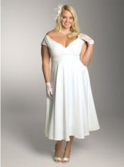 short plus size wedding dress, Igigis Christelle