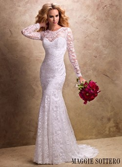 maggie sottero long sleeve wedding gown