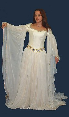 white medieval fairytale wedding gowns