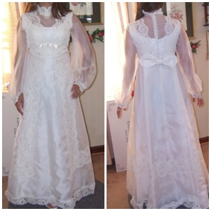 restyle mothers wedding dress before picture