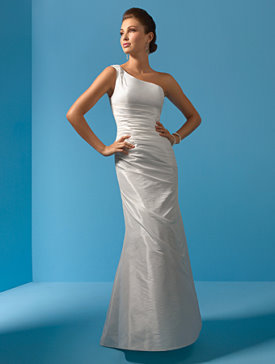 One Shoulder Wedding Gown Alfred Angelo
