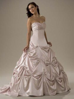 pink wedding dress victorias bridal