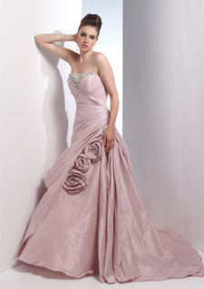 pink wedding dress, alyce 7779