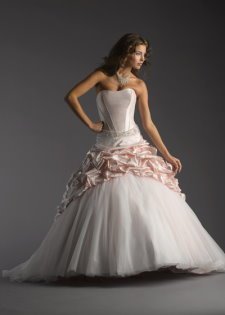pink wedding gowns, bellissima belinda