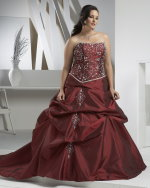 plus size red wedding dress