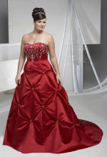 plus size red wedding gown