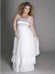 cheap plus size wedding dress, igigi Madelaine
