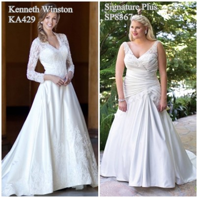 Dresses for large busted women dress yp for Wedding dresses for big chest