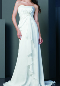 raised waist wedding dress picture