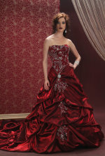 red wedding dress, bonny bridals