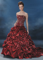 red wedding dresses, red wedding gowns