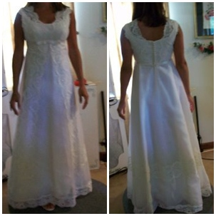 restyling wedding dress after pictures