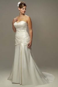 strapless wedding gown, venus bridals
