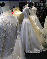Cheap bridal gowns best bargains are at the thrift store for Donate wedding dress military