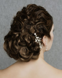 bridal wedding day hair style