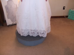 wedding dress lace hem