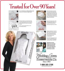 Why choose the wedding gown preservation company for Wedding dress preservation company
