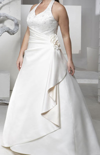 wedding dress style for pregnant woman