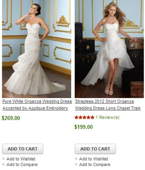 wedding dresses from china store
