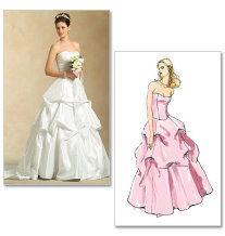 wedding gown patterns, McCalls 5321