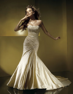 beautiful gold wedding dresses Anjolique