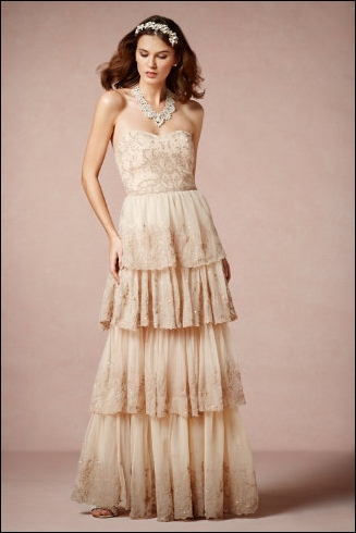 bhldn vintage lace wedding dress
